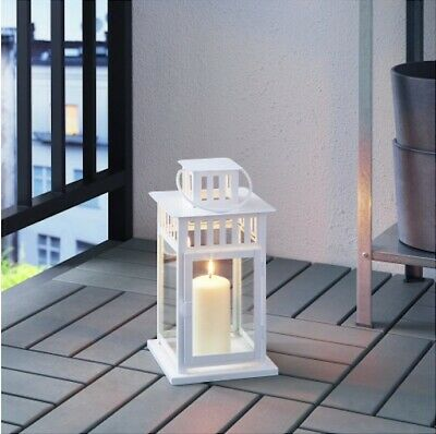 $15 • Buy BORRBY Lantern For Block Candle White Indoor/Outdoor White Wedding Party Decore