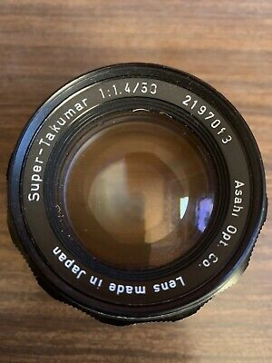 AU210 • Buy Asahi Pentax Super Takumar M42 Screw Mount 50mm F/1.4 Manual LENS
