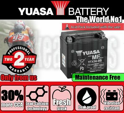 Yuasa YTX14-BS Battery For BMW Motorcycles • 80.99£