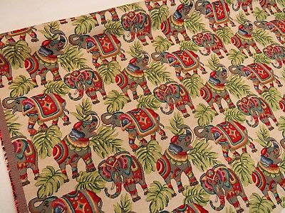 Elephants   Animal Tapestry  Designer Fabric Upholstery Curtains Cushions Throws • 12.99£