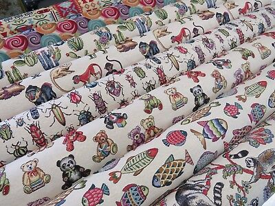 'Animal Tapestry' Designer Fabric Ideal For Upholstery Curtains Cushions Throws • 7.99£