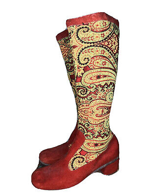 1960s Vintage Tapestry Gogo Boots US 7  • 380£