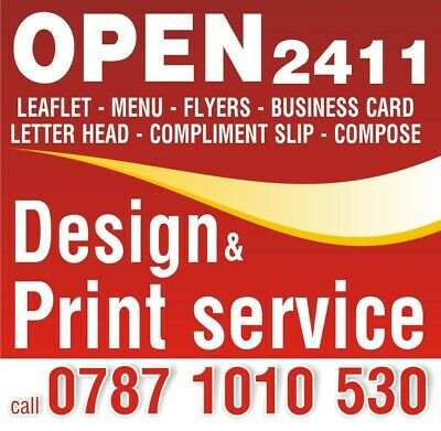 Takeaway FOLDED Colour Menus / Leaflets A4 130gsm Plus Free Delivery • 280£