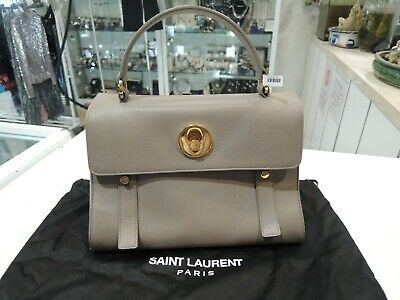 AU699 • Buy YSL YVES SAINT LAURENT Muse Two Hand Bag Canvas Leather Top Handle - Excellent