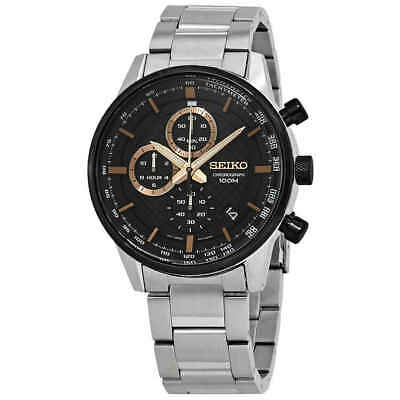 $ CDN228.99 • Buy Seiko Chronograph Quartz Black Dial Mens Watch SSB331