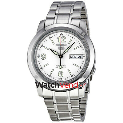 $ CDN132.99 • Buy Seiko 5 Automatic White Dial Stainless Steel Mens Watch SNKE57