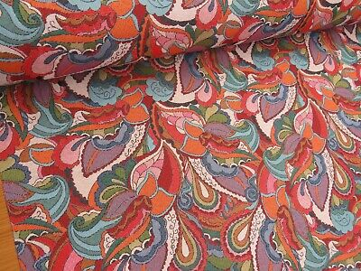 £19.99 • Buy Psychedelic Vintage Retro Flowers Tapestry Designer Fabric Upholstery Curtains