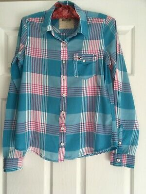 AU30 • Buy Hollister, Womens Cowboy Style Blouse / Check Shirt, Size S, Blue, Pink, White