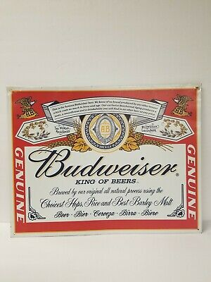 $ CDN23.78 • Buy Budweiser Beer Metal Sign (2001)