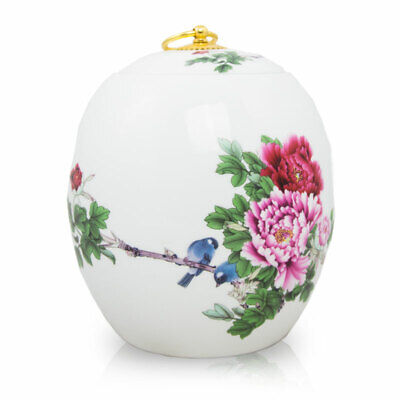 $78.95 • Buy Blue Bird Ceramic Cremation Urn For Ashes - Large  White
