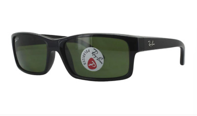 View Details Ray Ban POLARIZED Sunglasses RB4151 601/2P Glossy Black W/ Classic Grey-Green • 79.79$