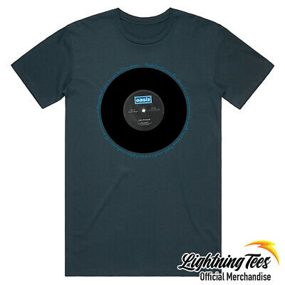 £14.95 • Buy Oasis Official Live Forever Noel Liam Gallagher Band Blue T-Shirt