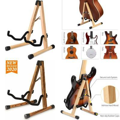 $ CDN47.74 • Buy Bass Electric Guitar Stand Floor Acoustic Guitar Ukulele Stand Wood Adjustable