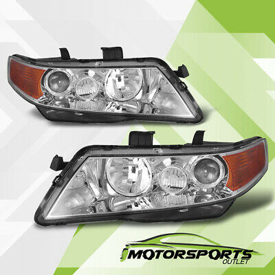 $117.99 • Buy 2004-2008 Acura TSX Chrome Projector Factory Style Headlights Pair 2005 2006