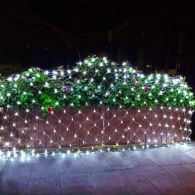 $12.99 • Buy RENUS 10x6.5Ft 320 LED Net Lights Christmas Decorations 8 Modes For Flashing