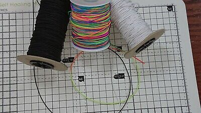 $ CDN2.99 • Buy 1m Round Elastic Cord Twine String White/Black/Rainbow  1mm(Approx)