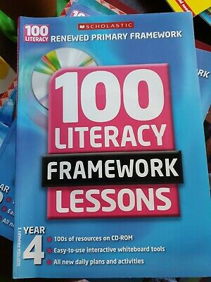 £3 • Buy 100 Literacy Framework Lessons Year 4  With Cd