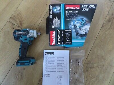 MAKITA DTW285Z 18v Impact Wrench Nut Runner 1/2  Square Drive NAKED BODY ONLY • 149.99£
