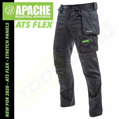£39.98 • Buy Apache ATS Flex Work Trousers - NEW 2020 Stretch Panels - Slim Fit - Holster