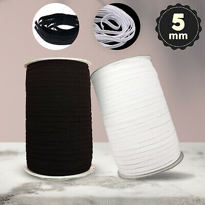 $ CDN14.16 • Buy 5mm Elastic Cord Stretchy DIY Sewing Black And White For Face Mask UK Stock