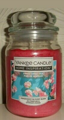 Yankee Candle Home Inspiration Simply Sweet Pea 538g Large Jar • 16.99£