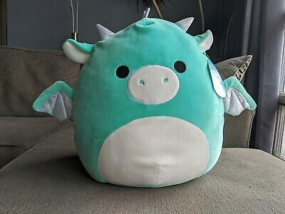 $ CDN55 • Buy Squishmallows NEW 2020 16  Inch Miles Holo Dragon Large Squishmallow HTF BNWT