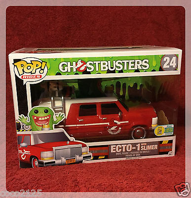 Sdcc Comic Con 2016 Funko Pop! Rides Ghostbusters Red Ecto-1 With Slimer  • 46.40£