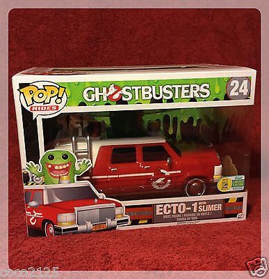 Sdcc Comic Con 2016 Funko Pop! Rides Ghostbusters Red Ecto-1 With Slimer  • 46.28£