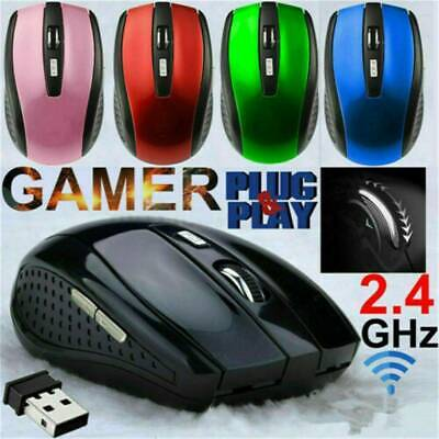 AU5.31 • Buy 2.4GHz Wireless Optical Mouse Mice & USB Receiver For PC Laptop Computer DPI HOT