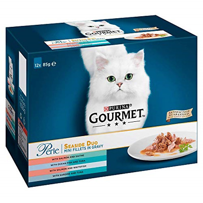Gourmet Perle Cat Food Seaside Duo, 12 X 85 G - Pack Of 4 • 37.84£