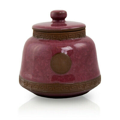 $29.95 • Buy Ceramic Cremation Urn For Ashes - Small  Red