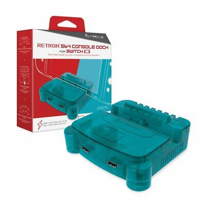 $39.99 • Buy Hyperkin RetroN S64 Console Dock For Nintendo Switch - Turquoise