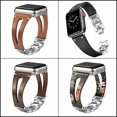 $ CDN33.09 • Buy Handmade 42/44mm Leather Bands For Apple Watch Series 4,5 44mm,Series 3/2/1 42mm