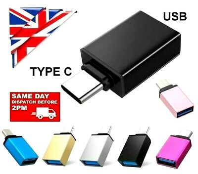 £3.79 • Buy USB 3.1 TYPE C OTG Adapter Male To USB 3.0 A Female Converter Adapter Data