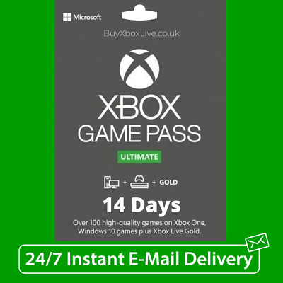 $2 • Buy XBOX LIVE 14 Day GOLD + Game Pass (Ultimate) Trial Code INSTANT - NEW USER ONLY