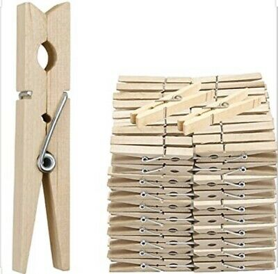 36 Wooden Clothes Pegs Washing Line  Wood Peg Gardens Airer-dry Natural Colour • 3.44£