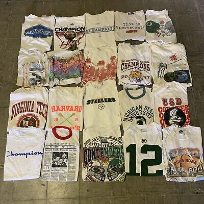 $ CDN244.39 • Buy Vintage Wholesale T Shirt 20 Lot Graphic 00s Bundle Sports NBA NCAA NFL MLB