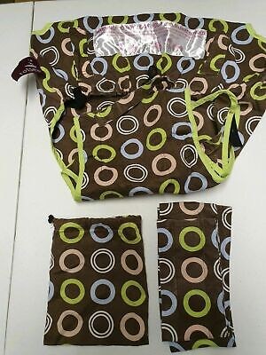 Baby Totseat Table Seat Sling  Baby Feeding - Brown Circles • 7.99£