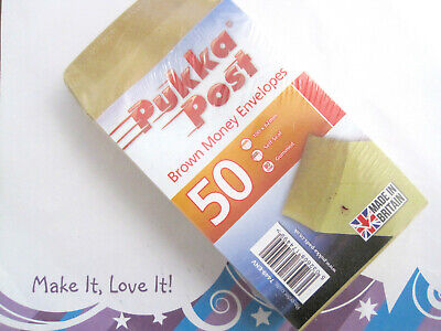 £3 • Buy PACK OF 50 Pukka Post Money Envelopes 100mm X 62mm MANILLA Seeds Wage Packets