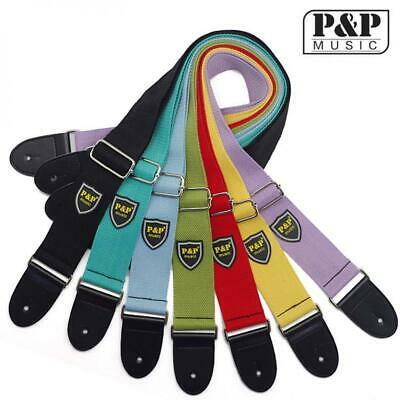 $ CDN7.13 • Buy 1pc Adjustable Soft Strap Pure Cotton Colorful For Electric Acoustic Guitar Bass