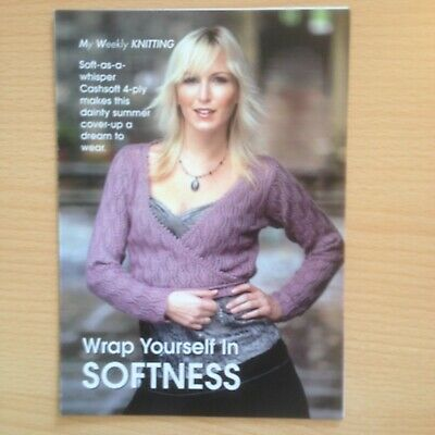 4 Ply Knitting Pattern Womens Cropped Cross-over Cover-up Top Bolero Bust 32-42  • 3£