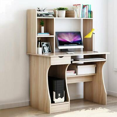£69.89 • Buy Computer Desk With Drawer Shelves Desktop PC Table Home Office Laboratory Pro
