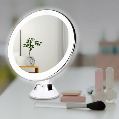 £11.59 • Buy Small 10x Magnifying Make Up Cosmetic Mirror Vanity With Light 18LED Illuminated