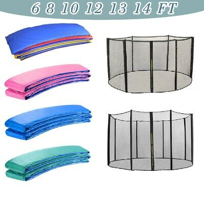 £80.97 • Buy 6 8 10 12 13 14FT Trampoline Safety Net Enclosure And Spring Cover Padding Pads