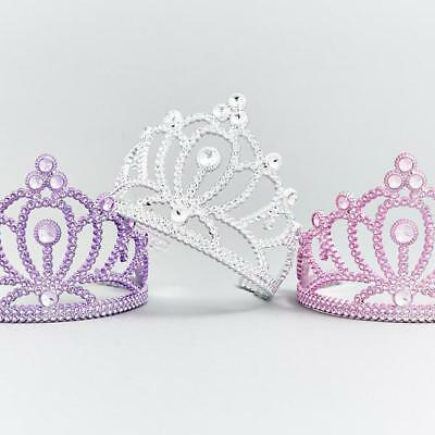 Fairy Princess Queen Plastic Tiara Crown Pink Lilac Silver Sparkle Dress Up  • 4.99£