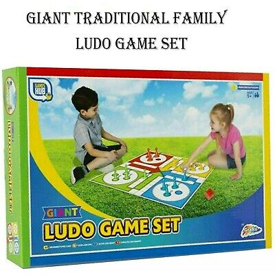 Games Hub Giant Traditional Ludo Board Game Set Garden Family Game Age 5+ • 6.79£