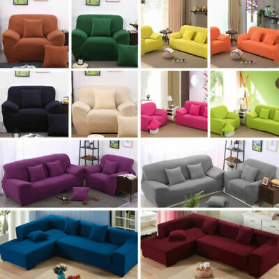 AU26.99 • Buy 1/2/3/4 Seater Sofa Slipcover Stretch Protector Soft Couch Cover Easy Lounge Fit