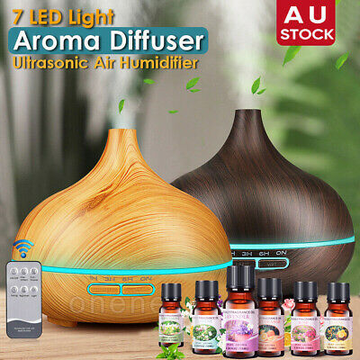 AU13.09 • Buy 550ML Aromatherapy Diffuser Aroma Essential Oils Ultrasonic Air Humidifier AU
