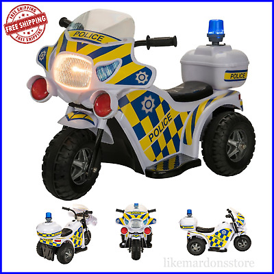 NEW Ride On Motorbike Police Bike Ride-On Electric Motorcycle Kids 6V Battery  • 56.79£