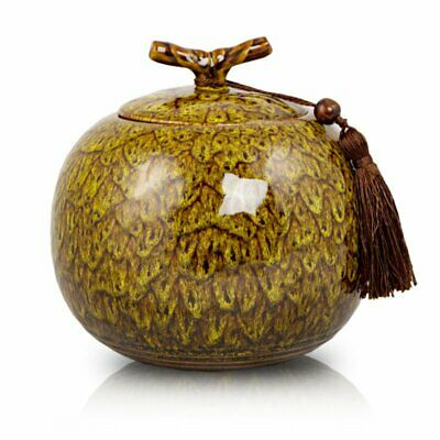 $54.95 • Buy Autumn Yellow Ceramic Cremation Urn For Ashes - Extra Large  Yellow